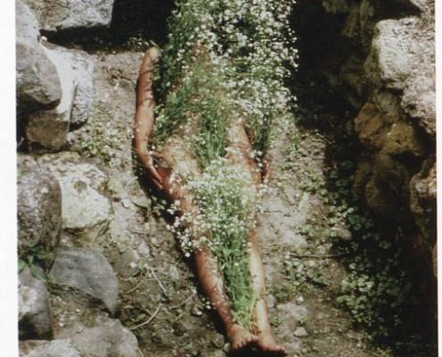 Ana Mendieta - Imagen de Yagul (1973)