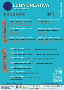Programul LUNII CREATIVE - Ediția a II-a