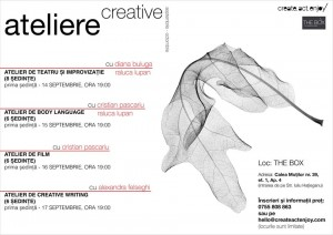 Afis ateliere creative septembrie