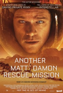 The Martian Honest Poster sursa: www.independent.co.uk
