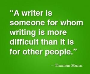 Thomas Mann despre scris