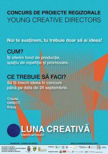 Concurs de proiecte regizorale YOUNG CREATIVE DIRECTORS (2016)